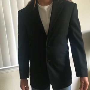 City Streets Custom Fit Suits Black Suit Coat